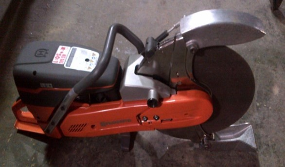 Husqvarna Gas Saw with UPRR spark Guard